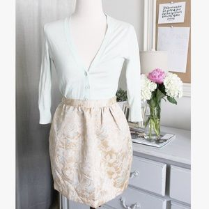 Brocade High Waisted Skirt