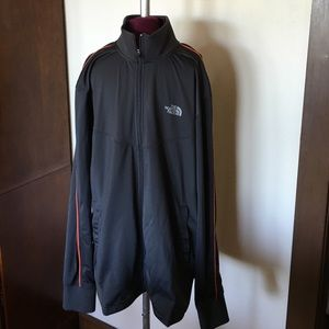 The North Face Gray Orange Athletic Jacket Mens L