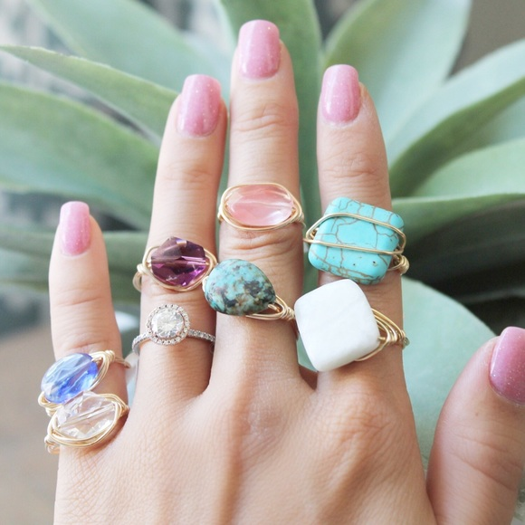LucyMint Jewelry - Handmade Wire Wrapped Rings