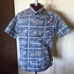 Reyn Spooner Other - Reyn Spooner Hawaiian Shirt Boys Large Blue Surf