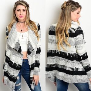 Boutique Sweaters - 🎉CLEARANCE🎉 Ivory, Gray, Black Sweater Cardigan