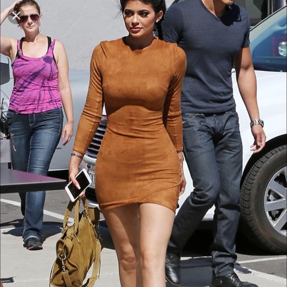 1a4c767640 Fashion Nova Dresses   Skirts - Kylie Jenner Suede Bodycon Dress