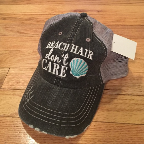 Beach Hair Don t Care Hat - Turquoise e44cd356525