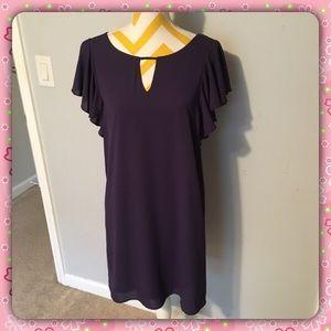 NWT Gorgeous Everly Purple Flutter Sleeve Dress