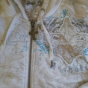 archaic Other - Mens White Archaic zip up hoodie