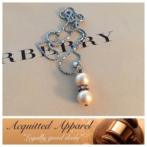 Acquitted Apparel Jewelry - 18K Gold Plated Pearl Necklace