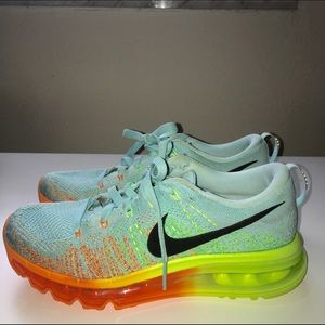 huge discount c4ad0 52264 Nike Shoes - Nike Flyknit Air Max Glacier Ice Atomic Orange