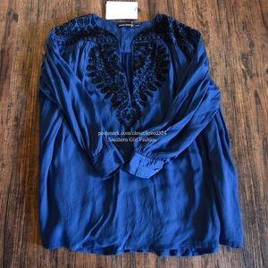 Antik Batik Tops - ANTIK BATIK Classic Top Patterned Bohemian Beaded