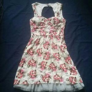 dELiAs Floral Cutout Peep-tulle A-line Dress