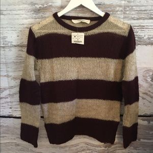 NWT Zara knitwear striped sweater