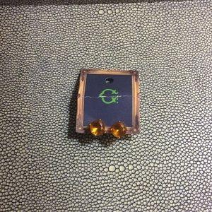 New C Wonder jeweled orange stud earrings