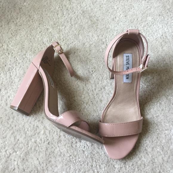 1b299f5d6a1 Steve Madden  Carrson  Blush Patent Sandal. M 57968c606d64bcabb20012e1