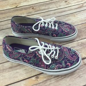 1a37d1ce86e4da Vans Shoes - Vans Purple Paisley Classic Shoes NEW RARE