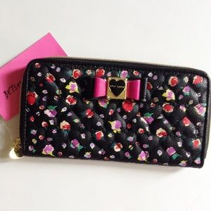 NWT Betsey Johnson floral wallet