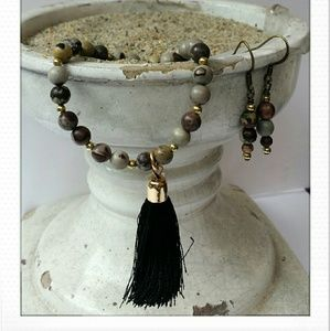 Jewelry - Crazy Horse Stone gemstone bracelet/earring set