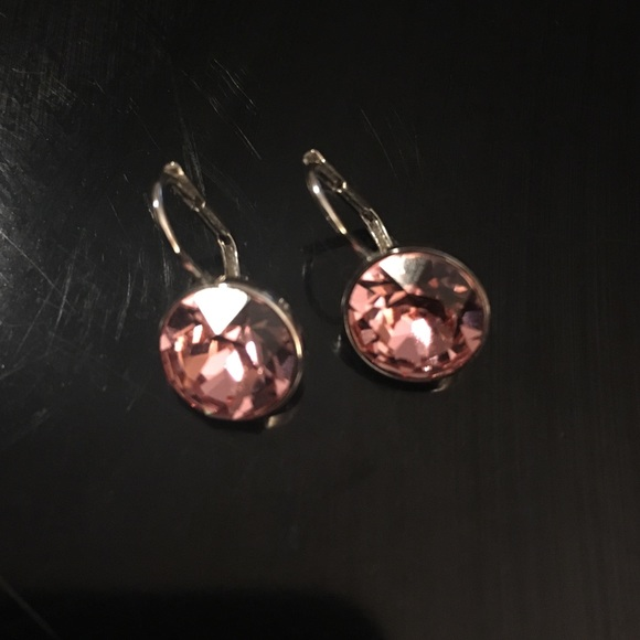 1c8e1720e829d9 Swarovski Pink Mini Bella Pierced Earrings. M_579697ceb4188efa270024d9