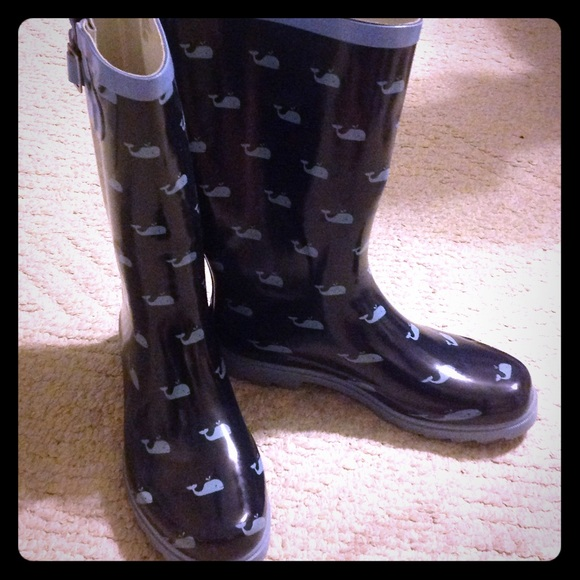 60% off Merona Shoes - Whale rain boots from Kathy's closet on ...