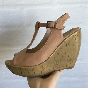 Blowfish Shoes - Nude wedges