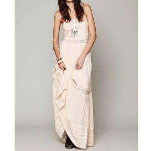 Free People Dresses & Skirts - FREE PEOPLE Maxi Dress Intricate Long Draped Gown