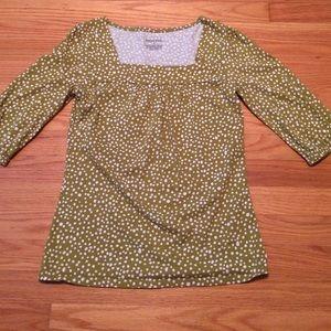 Merona, 1/4 sleeve, polka dot blouse