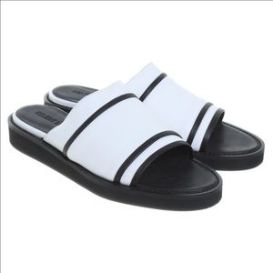 Helmut Lang Shoes - NEW Helmut Lang black and white slide on sandals