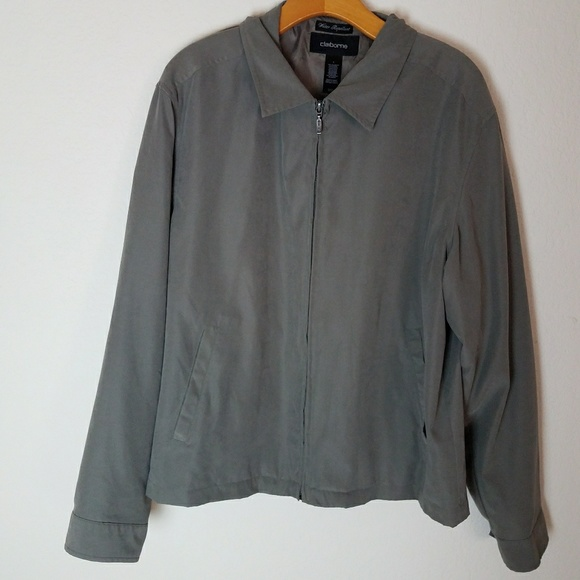 Claiborne Other - Waterproof Rain Resistant Olive Green Jacket Mens