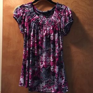 Style & Co Tops - Woman's floral top with ribbed neckline.