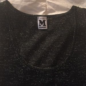 Missoni Tops - SALE! NEW MISSONI BLACK/SILVER SPARKLE TANK TOP