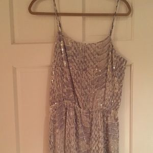 Gray white snakeskin sequin Parker dress