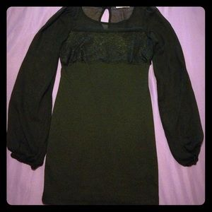 Pauln KC Dresses & Skirts - Black long sleeve body on dress
