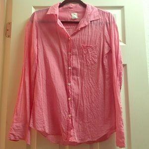 "⚜ J Crew ""The Boy Shirt"" Sz 4 Pink (worn once!)"