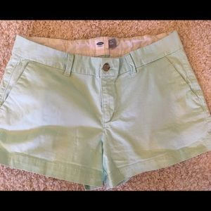"""Classic Mint Old Navy Cotton Shorts - 4"""" Inseam."""