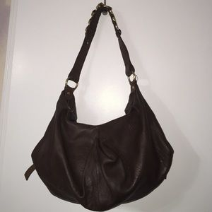 Kate Landry Handbags - Kate Landry Chocolate leather bag with gold detail