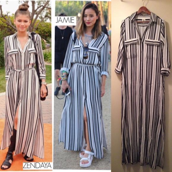 2ffe5837356f L'AGENCE Dresses | Lagence Striped Maxi Shirtdress | Poshmark