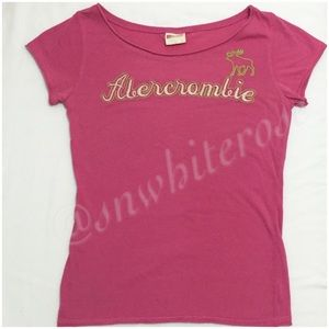 Abercrombie & Fitch Other - {Abercrombie} Pink Logo Short-Sleeve Top