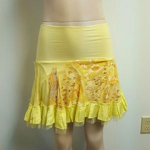 Ariella Dresses & Skirts - NWOT ARIELLA designer yellow skirt embroidered.