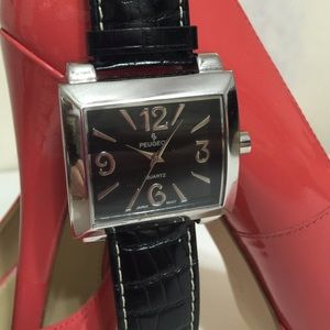Peugeot Accessories - Reduced! Black And Silver Fashion Watch
