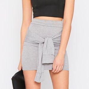 Zara Dresses & Skirts - Grey front tie mini-skirt