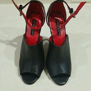 Charles Jourdan Shoes - Charles Jourdan peep toe ankle strap