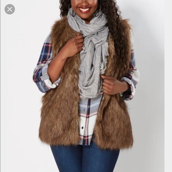 49% Off Rue 21 Jackets U0026 Blazers - Rue 21 Plus Size Faux Fur Vest From Kristenu0026#39;s Closet On Poshmark