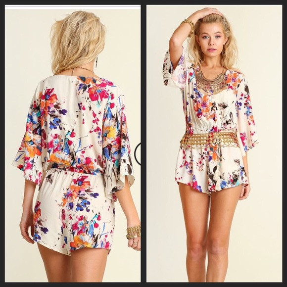 8a00d2012f76 🎉Floral Romper by Umgee!🎉 LAST ONE!!!