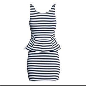 H&M Nautical Stripe Bodycon Dress