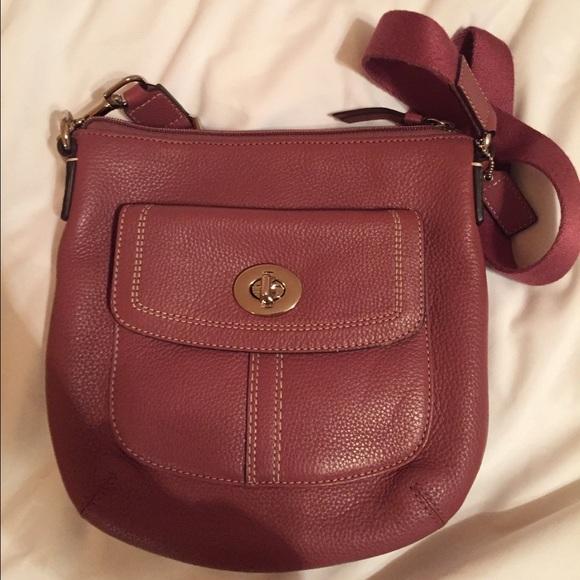 1392bcc5590 Coach Bags   Pink Leather Crossbody Bag   Poshmark