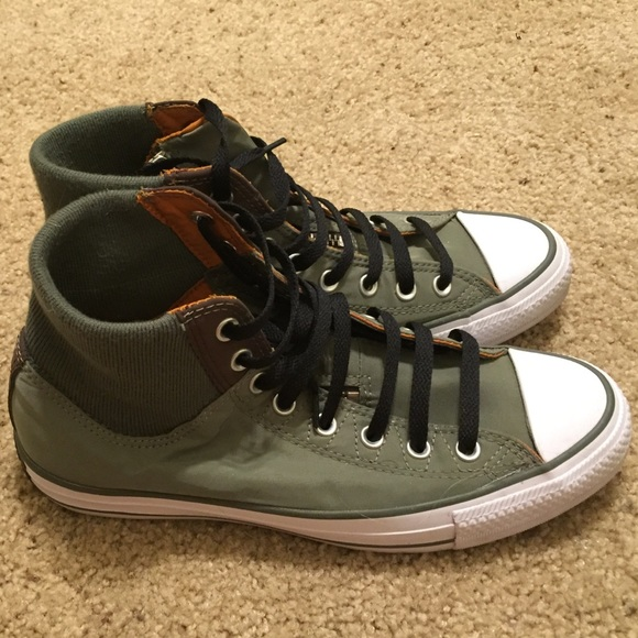 Converse Shoes   Army Green High Top