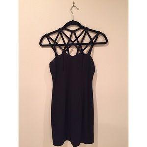 Caged LBD Black Bodycon Dress