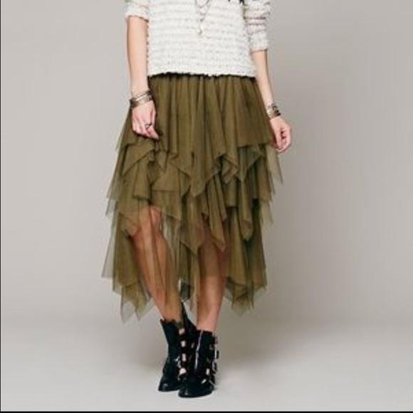 cbe817fabf Free People Dresses & Skirts - Large free people tulle skirt