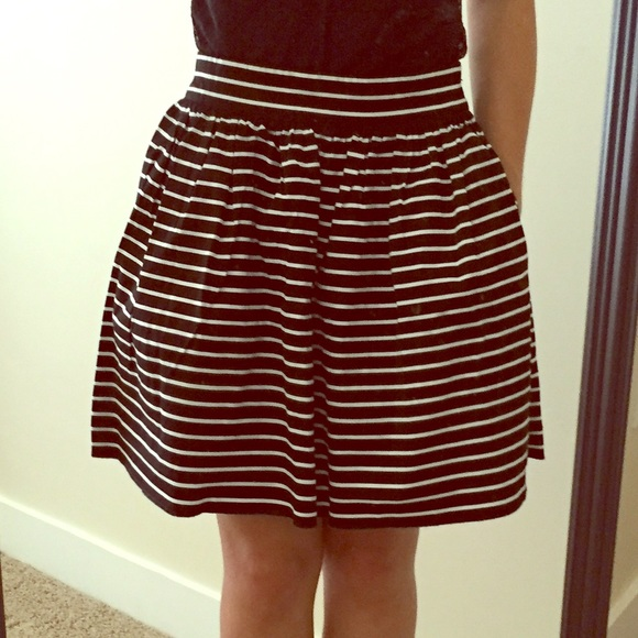 d3ed9fcdc5 Forever 21 Skirts | F21 Black White Striped Skirt Pockets Size Xs ...