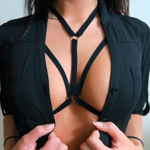 Other - Body Harness Lingerie Top in Black
