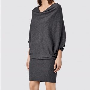 All Saints Dresses & Skirts - AllSaints Elgar sweater dress in dark purple