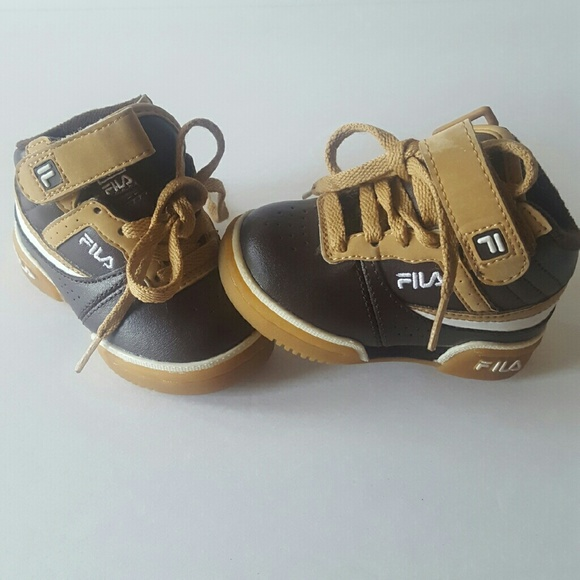 fila high tops. infant brown fila high tops shoes
